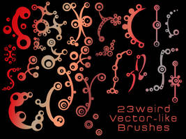 23 weird vector-like brushes