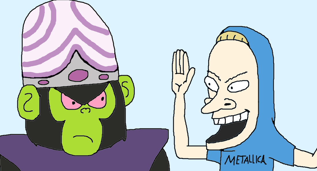 Beavis VS Mojo Jojo by the-acorn-bunch