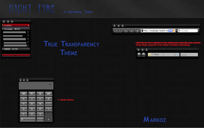 Night Time True Transparency by CanasX