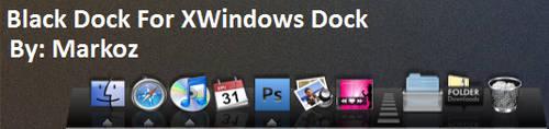 Black Dock For XWindows Dock by CanasX