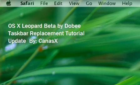 Leopard Taskbar Skinning Guide by CanasX