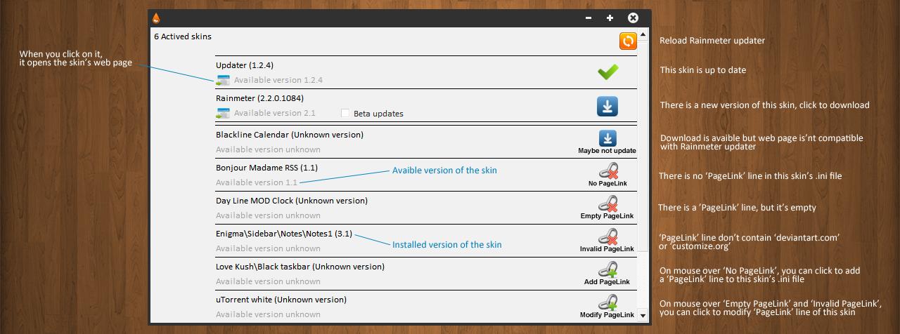 Rainmeter updater - 1.3.8