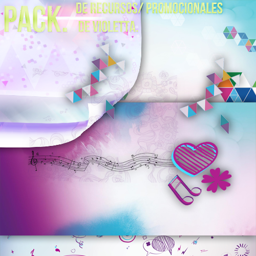 Pack de Violetta by Lichu-editions