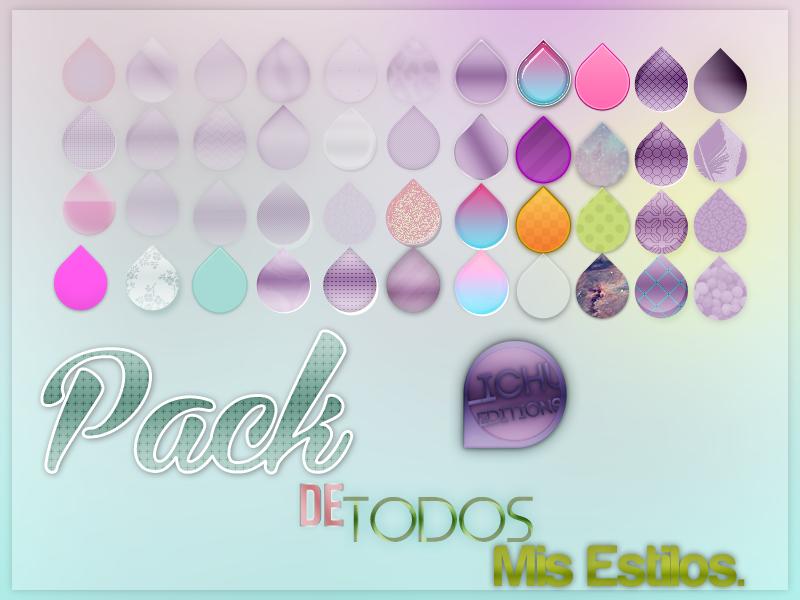 Pack de Todos mis Estilos. by Lichu-editions