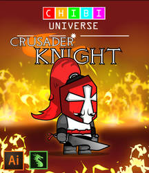 Chibi Crusader Knight Dragonbones Idle Animation by Moonstar2D