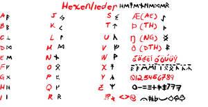 Hexenlieder font