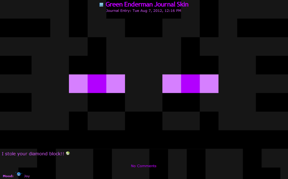 Purple Enderman Journal Skin Free By Teevz On Deviantart