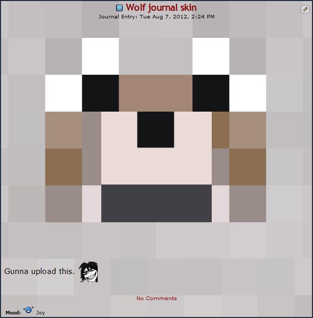 Minecraft Wolf Journal Skin By Teevz On DeviantArt - Dog skins fur minecraft