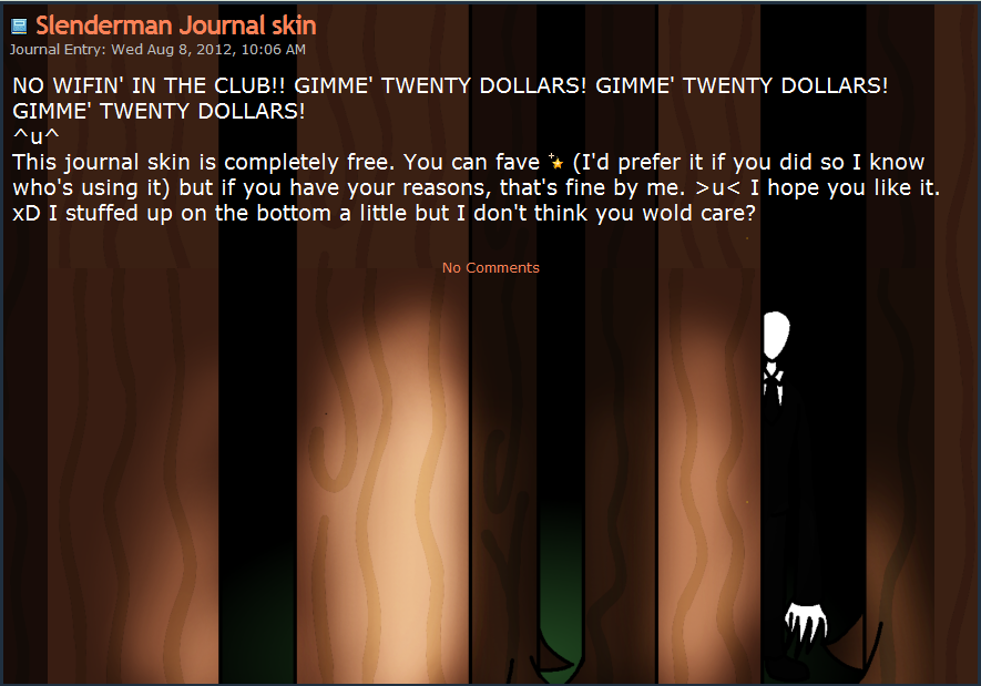 Slenderman Journal skin by TVZRandomness