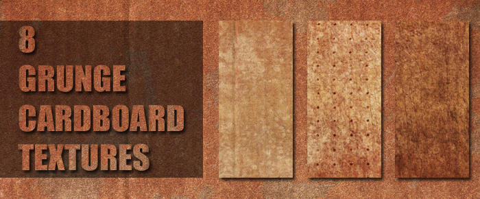 Grunge Cardboard Texture Pack by sdwhaven