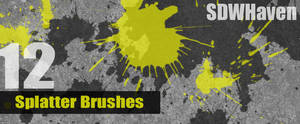 Photoshop Splatter Brushes by sdwhaven