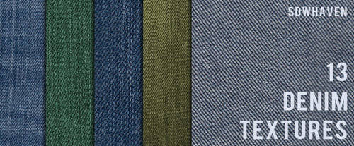 Denim Textures Set of 13
