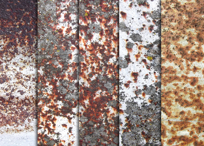White Rusty Metal Textures by sdwhaven