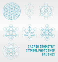 Sacred Geometry Symbol Photoshop Brushes
