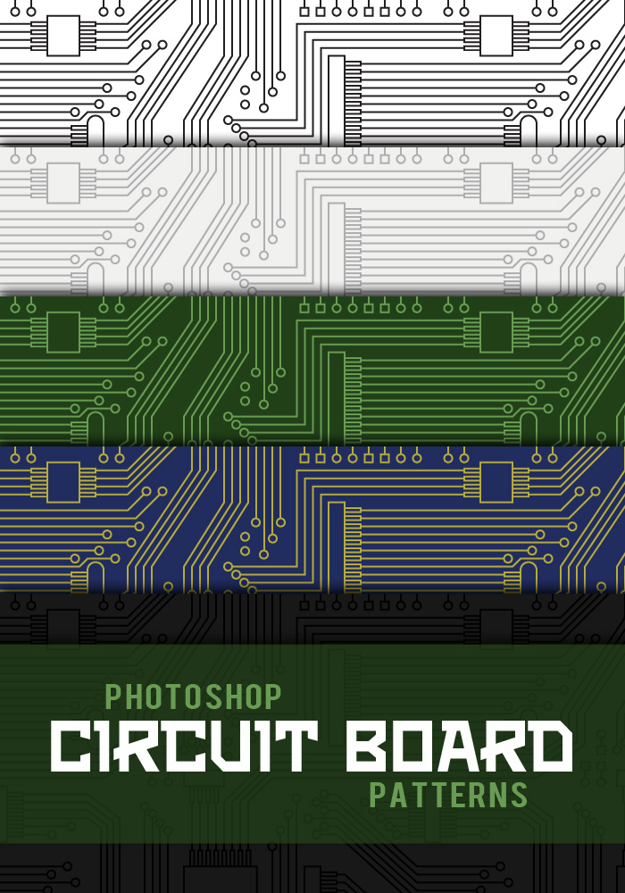 Circuit Board Photoshop Patterns