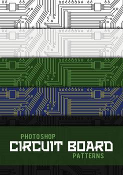 Circuit Board Photoshop Patterns