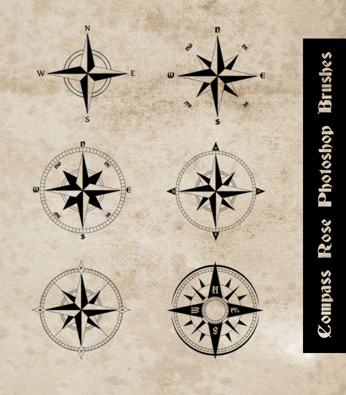 Compass Rose Photoshop Brushes