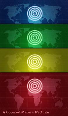 World Radar Map Stock Textures