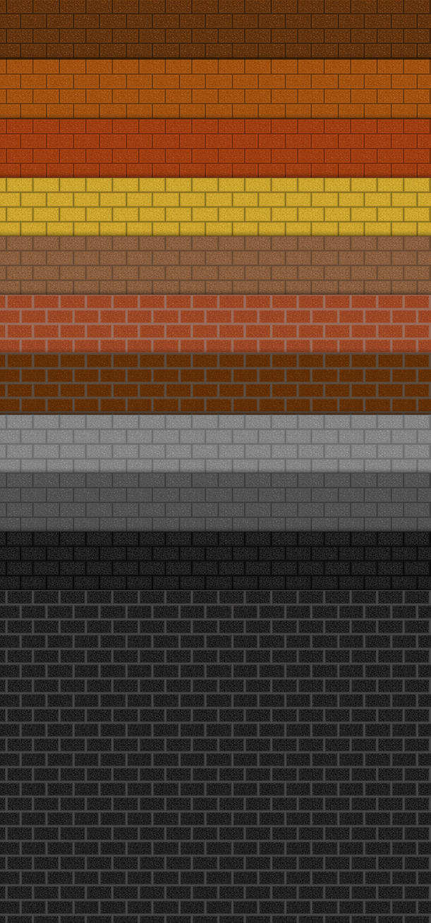 Realistic Brick Photoshop Patterns by sdwhaven