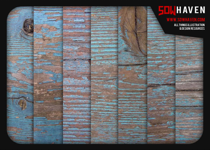 Weathered Blue Wood Textures by sdwhaven