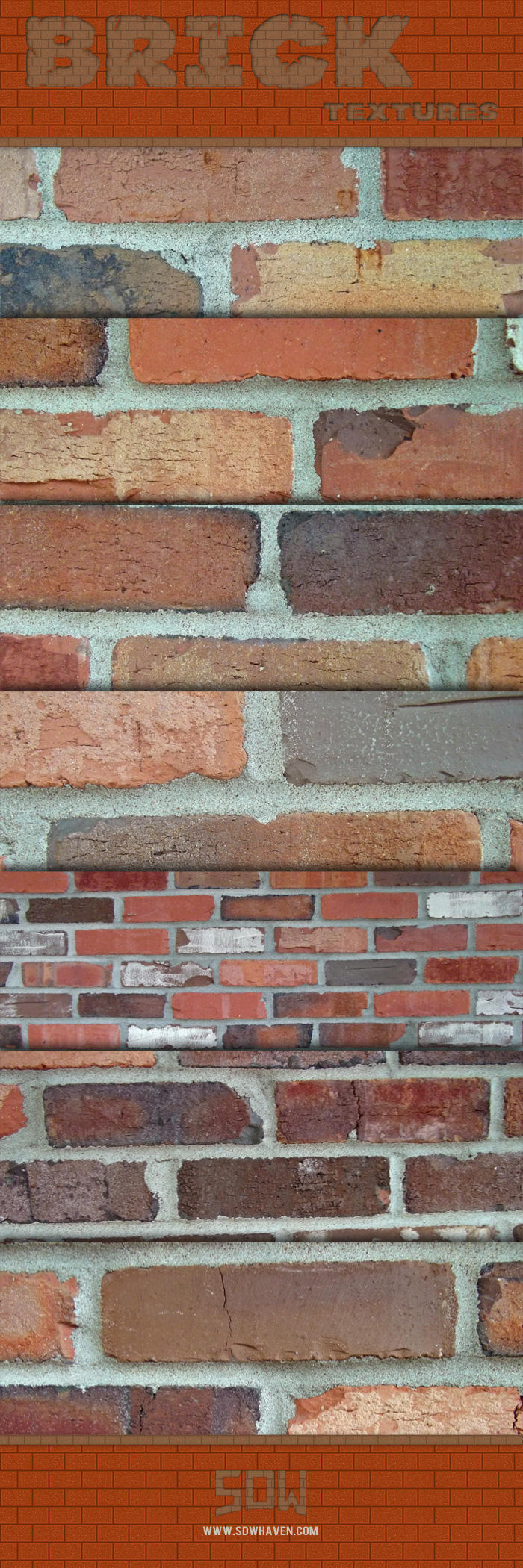 7 Free High Res Brick Textures by sdwhaven