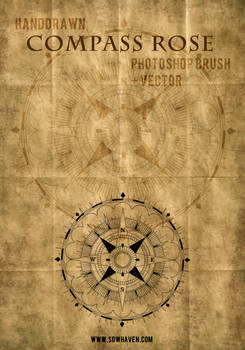 SDWHaven Hand Drawn Compass Rose Photoshop Brush