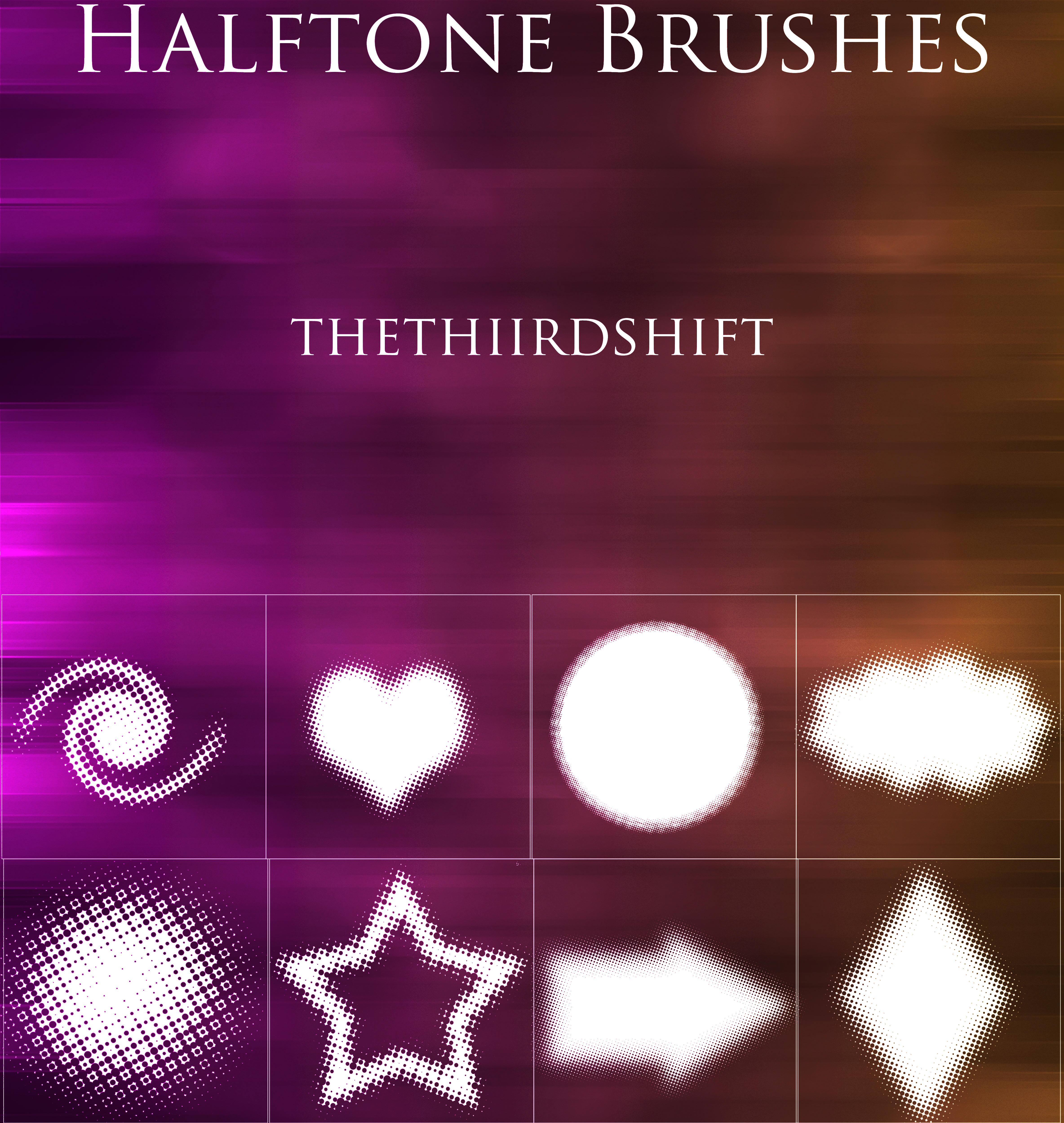 Halftone Brushes by thethiirdshift