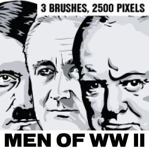 Men of WW II Photoshop brushes - hi res by Brushportal