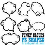 Funky Clouds Custom Shapes