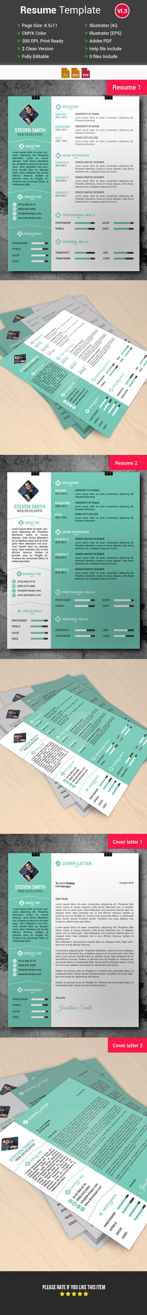 resume  cv template  free download  by arahimdesign on deviantart