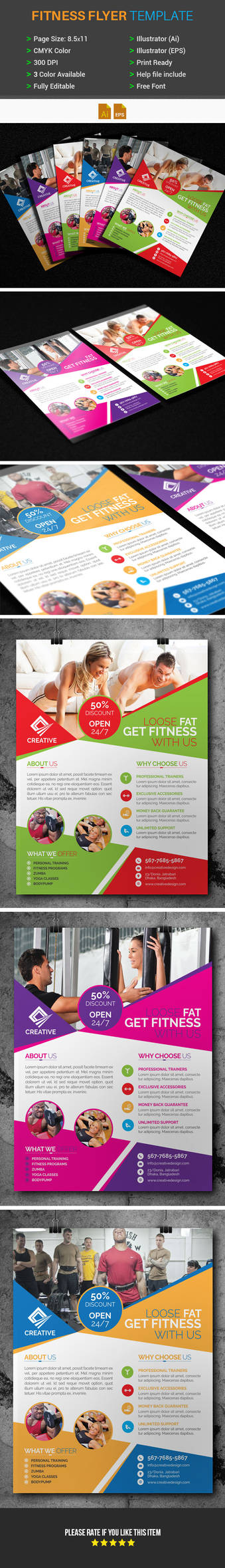 Free Fitness/Gym Flyer Template