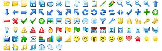 20x20 Free Toolbar Icons by Ikonod