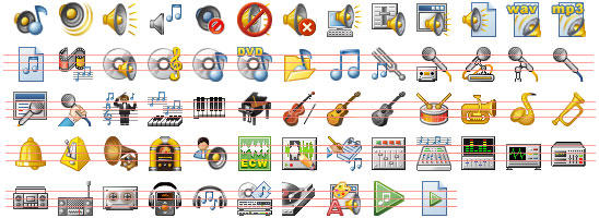 32x32 Music Icons by Ikonod