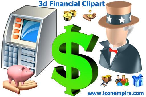 3d Financial Clipart
