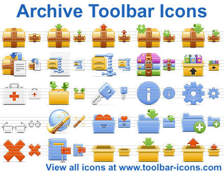Archive Toolbar Icons by Ikonod