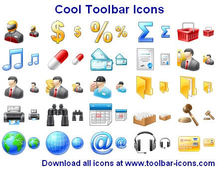 Cool Toolbar Icons by Ikonod