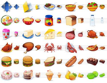 Desktop Buffet Icons by Ikonod