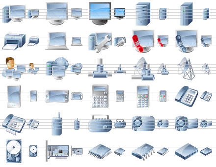 Desktop Device Icons by Ikonod