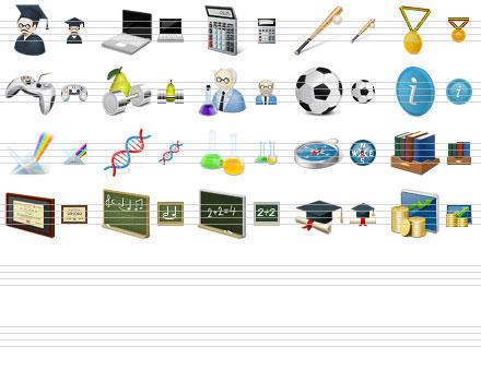 Desktop Education Icons by Ikonod