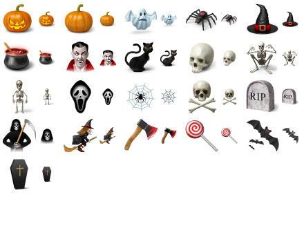 Desktop Halloween Icons by Ikonod