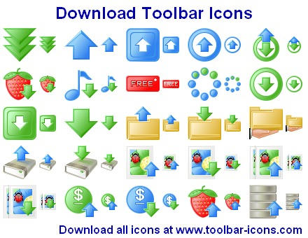 Download Toolbar Icons by Ikonod