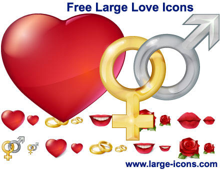 Free Large Love Icons by Ikonod