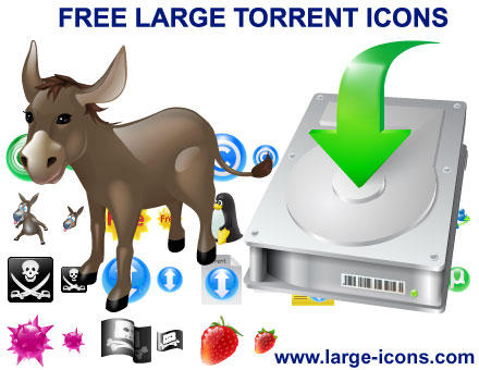 Free Large Torrent Icons by Ikonod