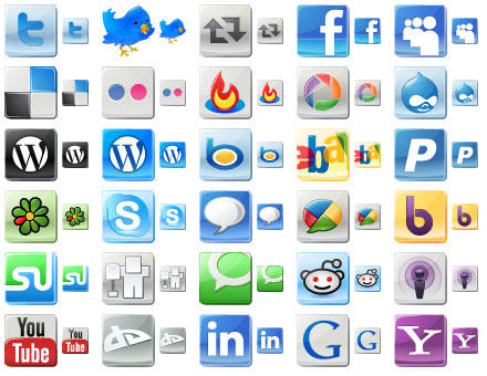 Free Social Media Icons by Ikonod