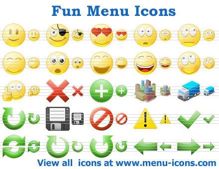 Fun Menu Icons by Ikonod