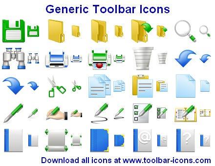 Generic Toolbar Icons by Ikonod