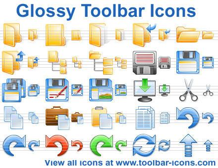 Glossy Toolbar Icons by Ikonod