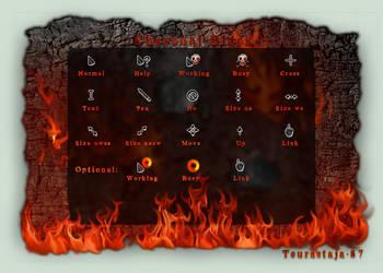 Charcoal Black cursor set by Teurastaja-87