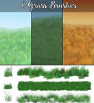6 Grass Brushes