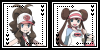 Black and White Female Trainers Icon Set by Cat-Reaper